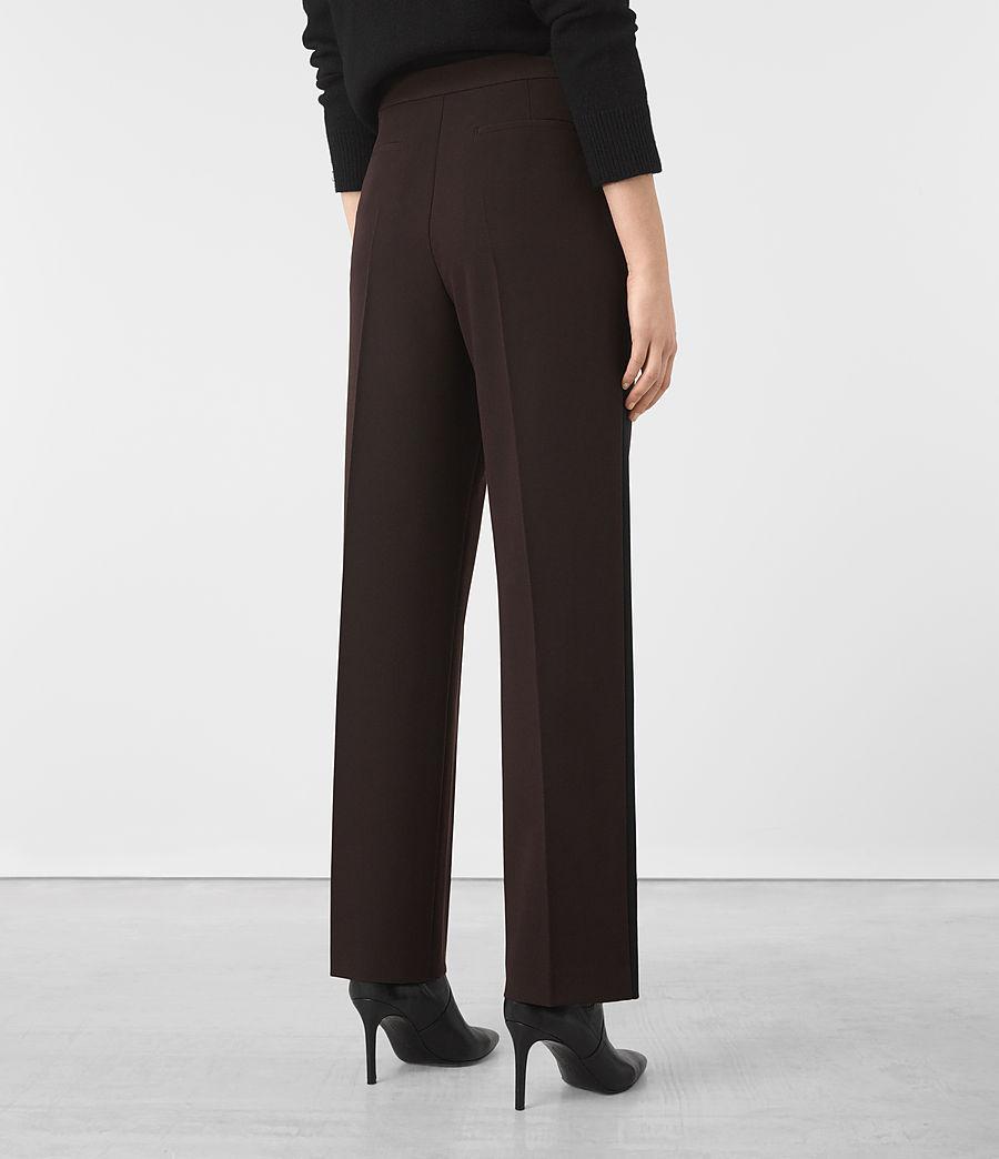 Donne Astara Wide-Leg Trousers (oxblood) - Image 4