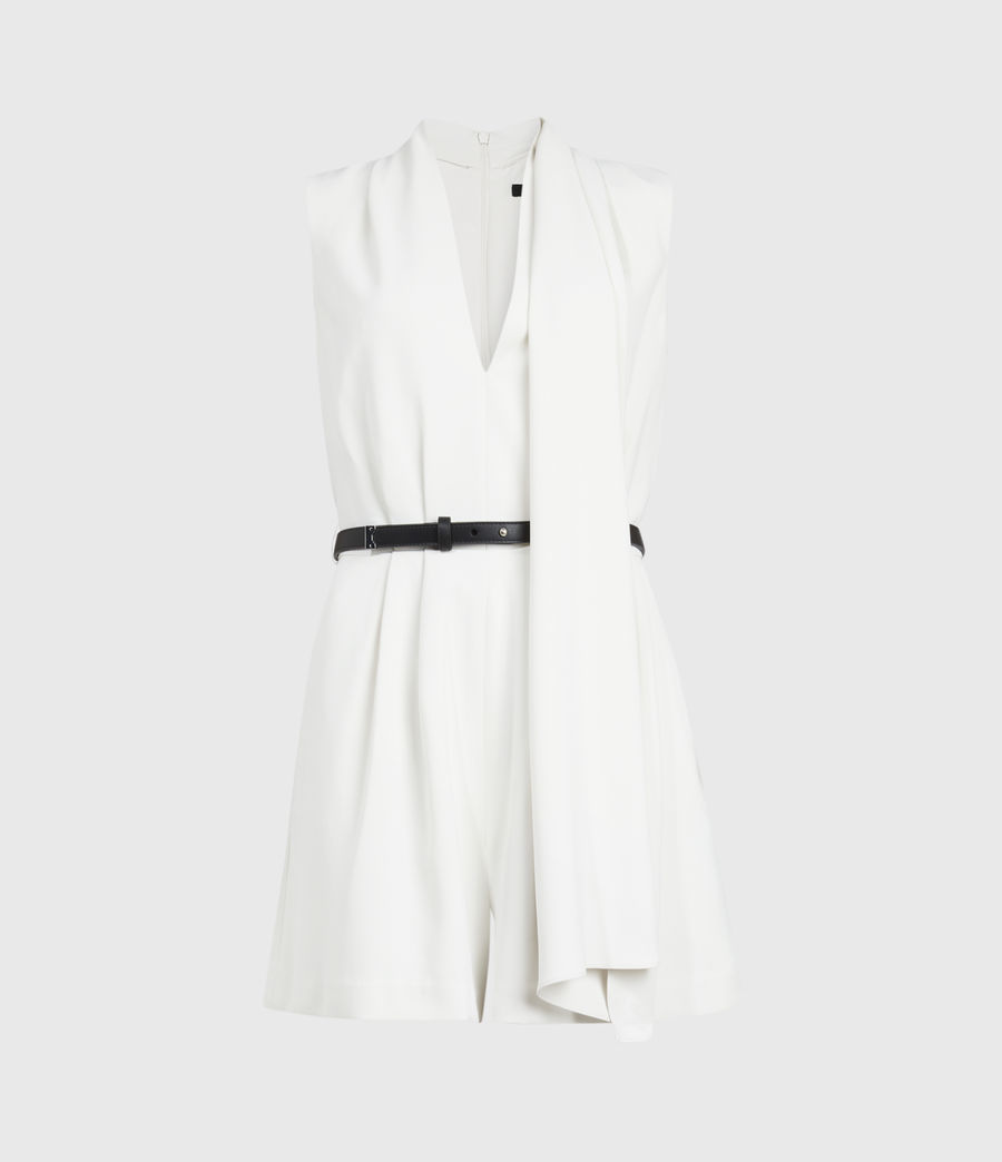 Womens Ivy Playsuit (pearl_white) - Image 1