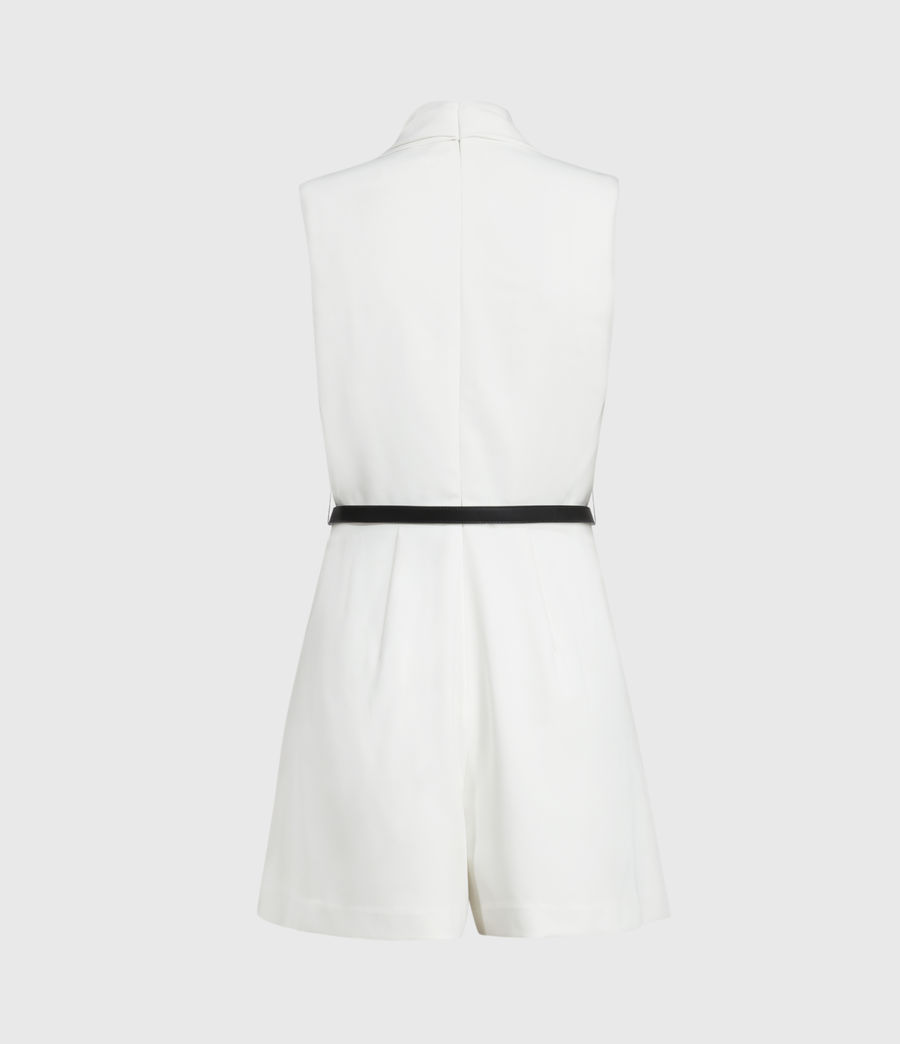 Womens Ivy Playsuit (pearl_white) - Image 2