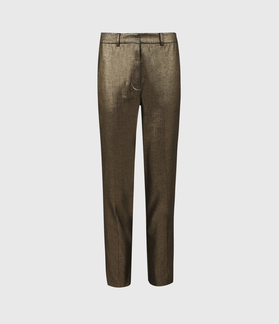 Womens Micah High-Rise Pants (gold) - Image 2
