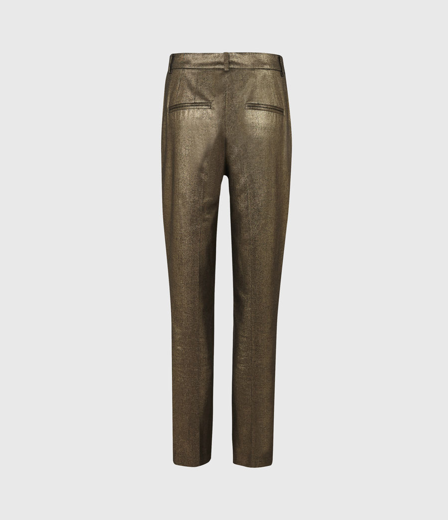 Womens Micah High-Rise Pants (gold) - Image 3