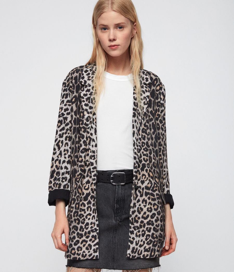 Mujer Saco Neve Leppo (leopard_yellow) - Image 1