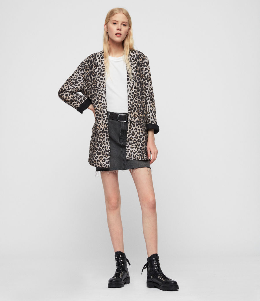 Mujer Saco Neve Leppo (leopard_yellow) - Image 2