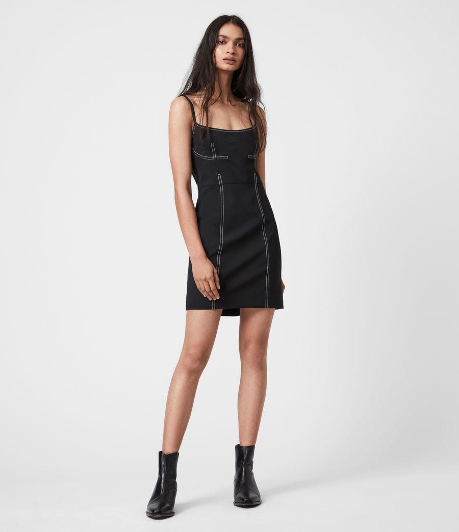 Women's Bobbie Dress (black) - Image 4