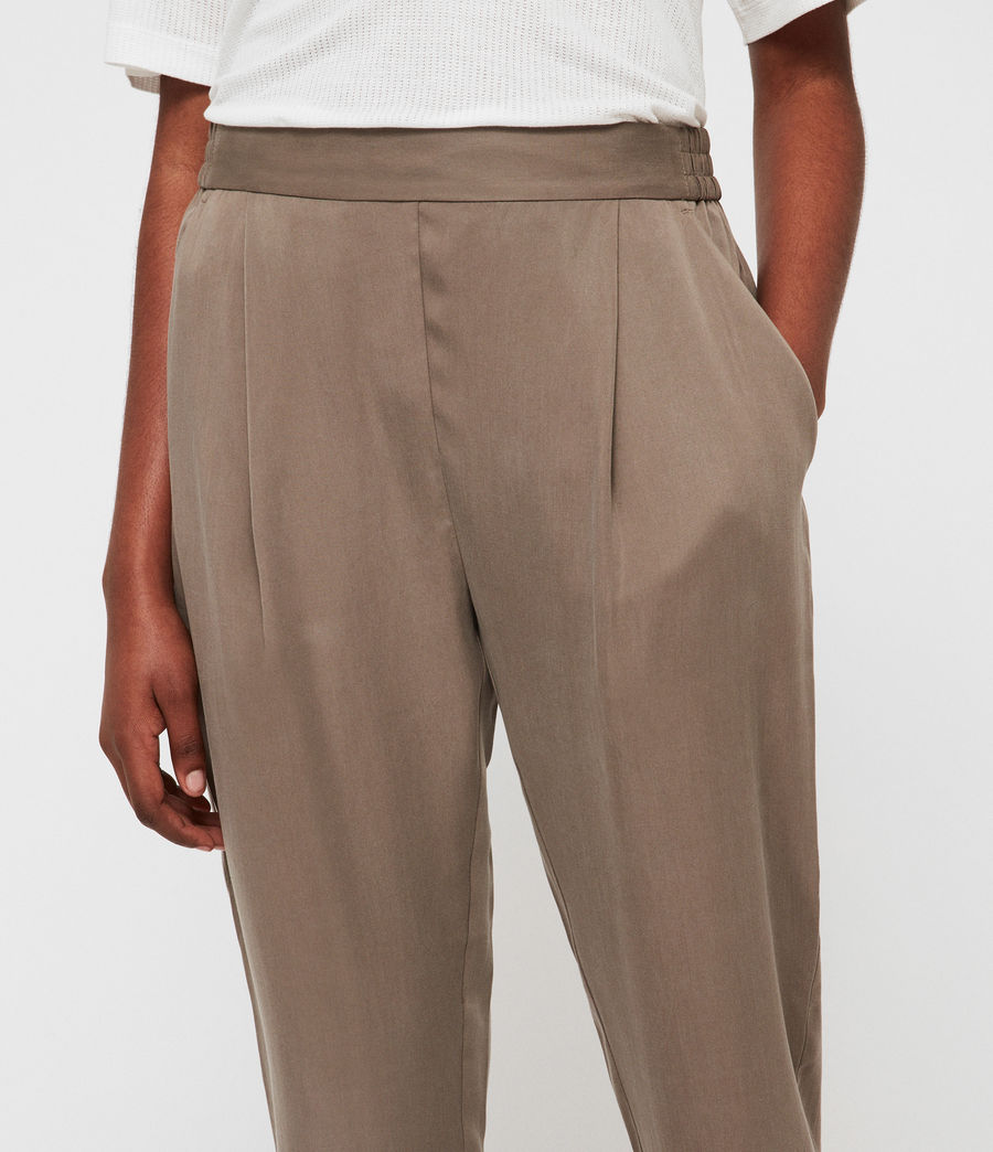 Womens Alva Tapered High-Rise Pants (nude_pink) - Image 2