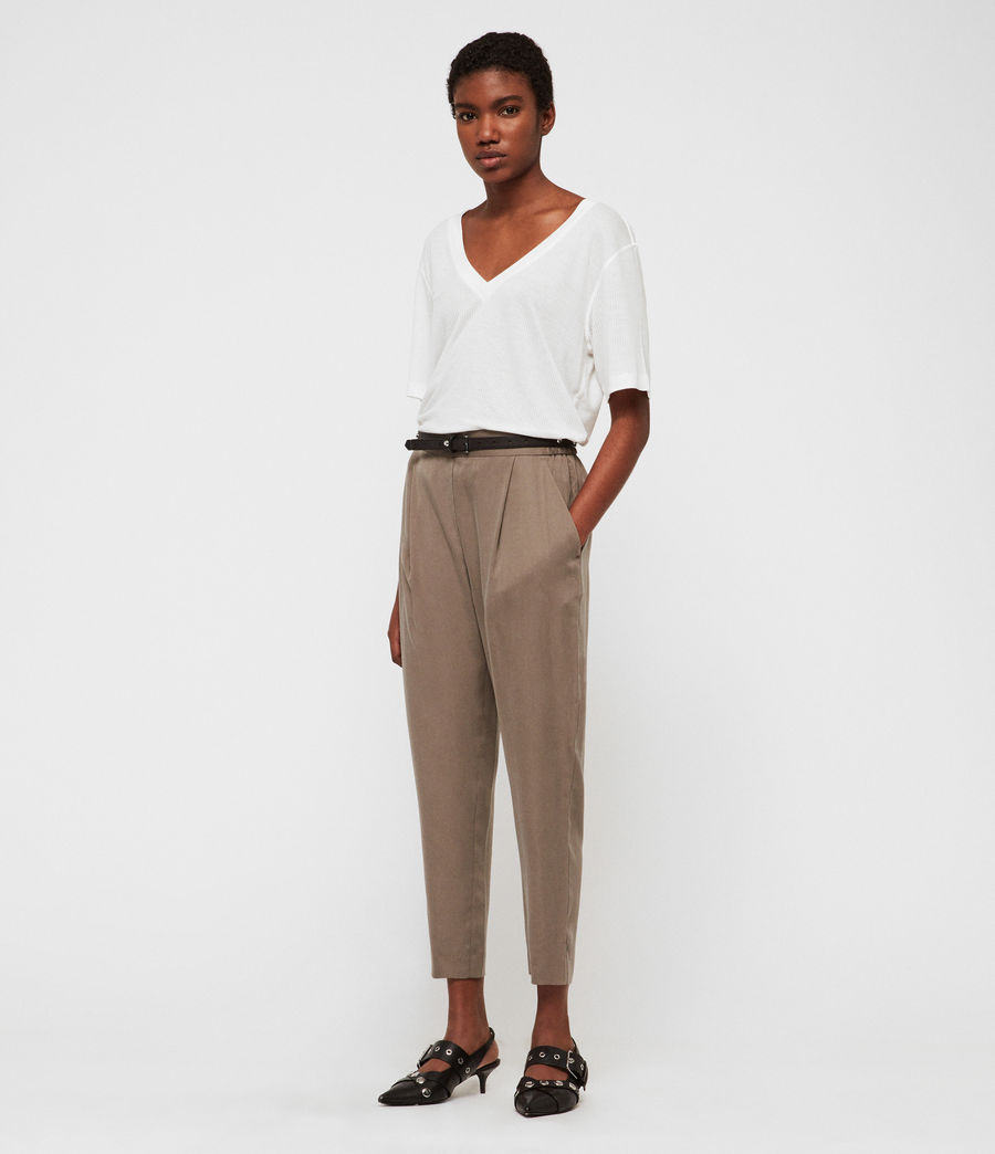 Womens Alva Tapered High-Rise Pants (nude_pink) - Image 3