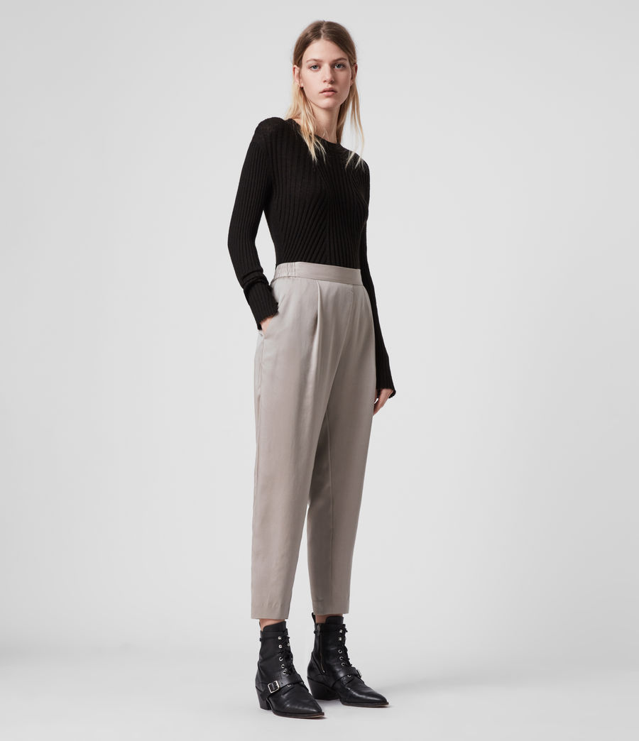 Womens Alva Tapered High-Rise Pants (nude_pink) - Image 1