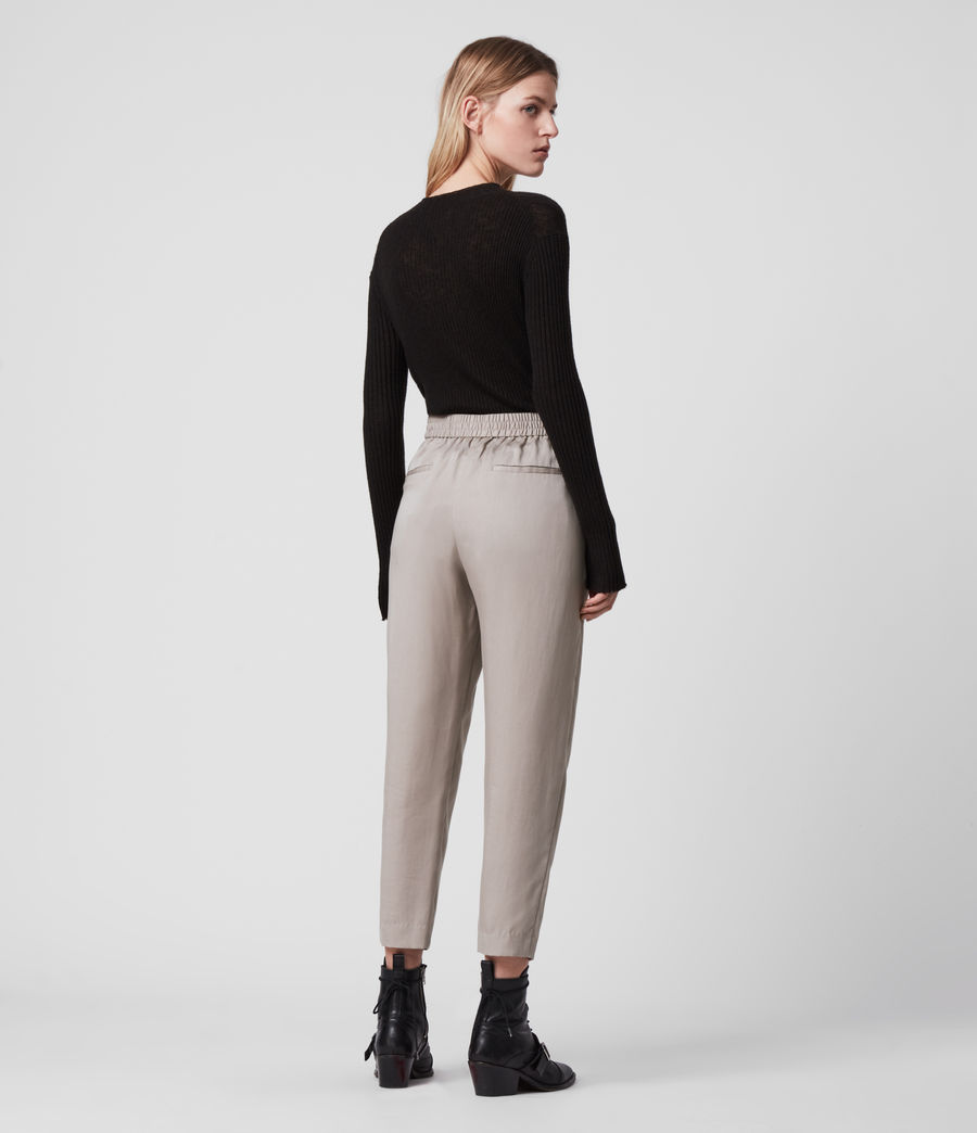 Womens Alva Tapered Low-Rise Pants (nude_pink) - Image 5