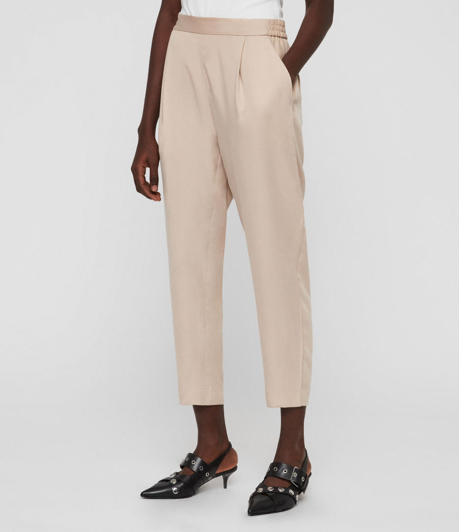 Womens Alva Tapered High-Rise Pants (khaki) - Image 2