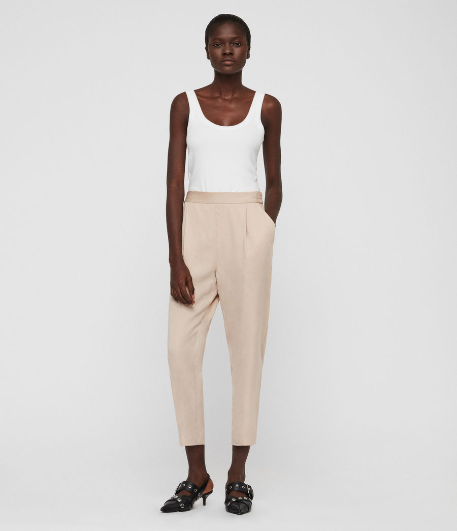 Womens Alva Tapered High-Rise Pants (khaki) - Image 3