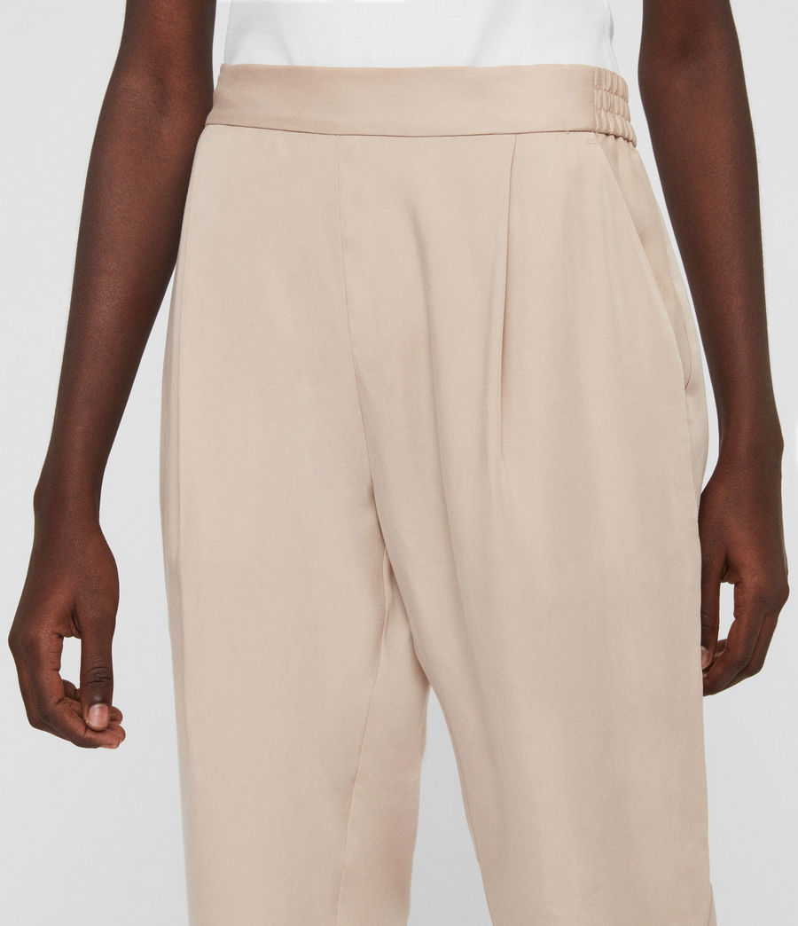 Womens Alva Tapered High-Rise Pants (khaki) - Image 4