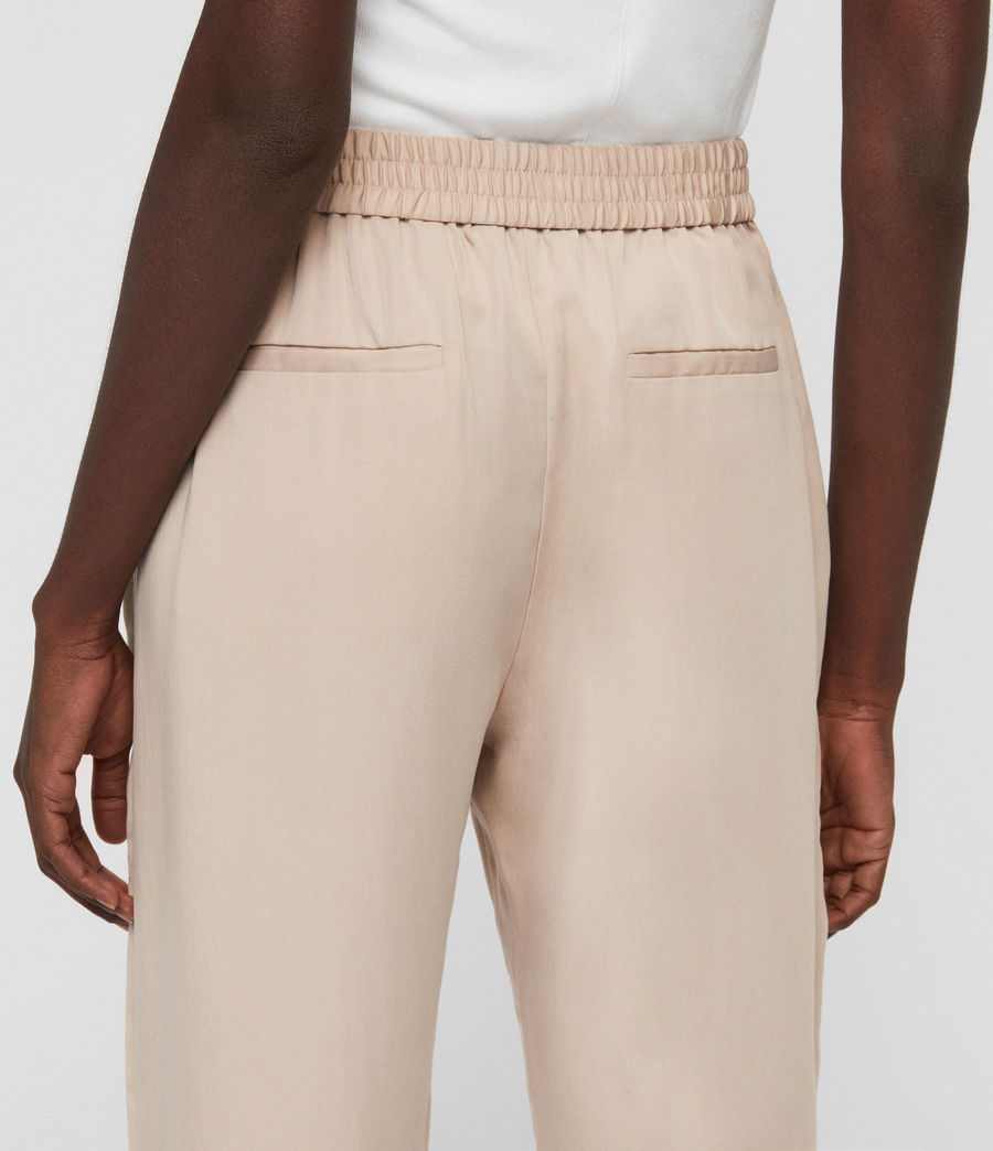 Womens Alva Tapered High-Rise Pants (khaki) - Image 5