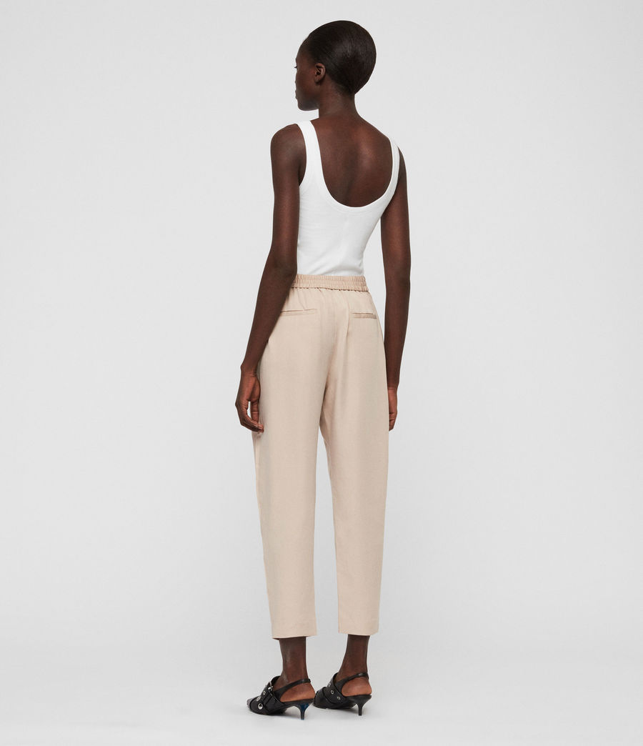 Womens Alva Tapered High-Rise Pants (khaki) - Image 6