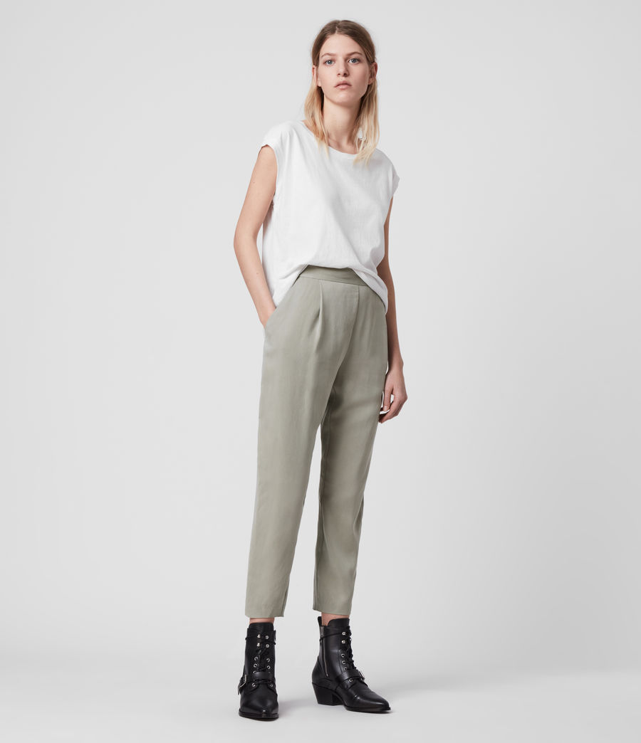 Women's Alva Low-Rise Trousers (pistachio_green) - Image 1