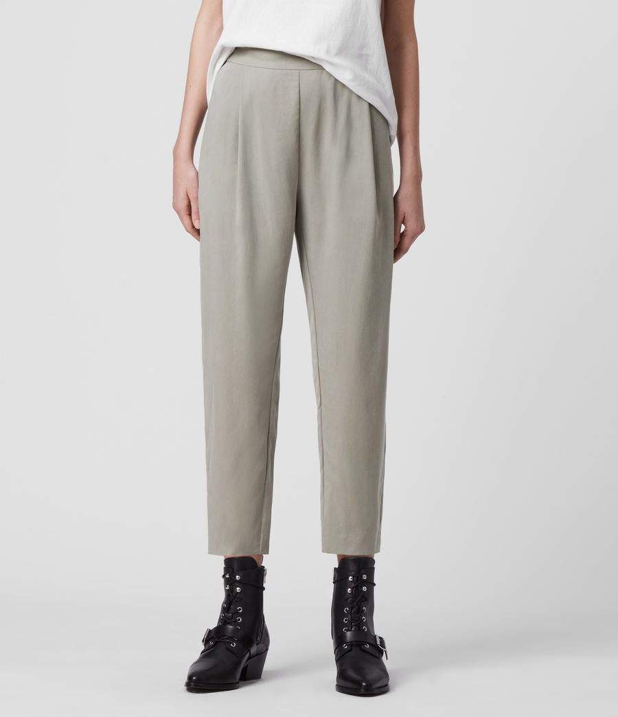 Women's Alva Low-Rise Trousers (pistachio_green) - Image 3