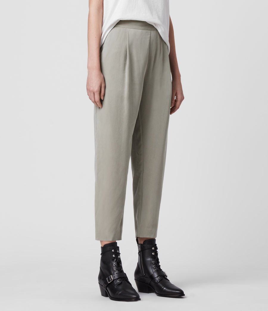 Women's Alva Low-Rise Trousers (pistachio_green) - Image 4