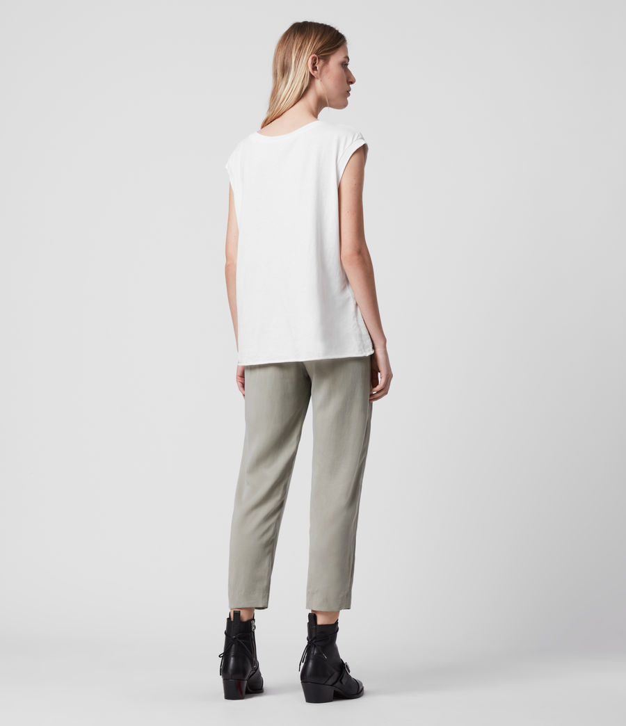 Women's Alva Low-Rise Trousers (pistachio_green) - Image 6