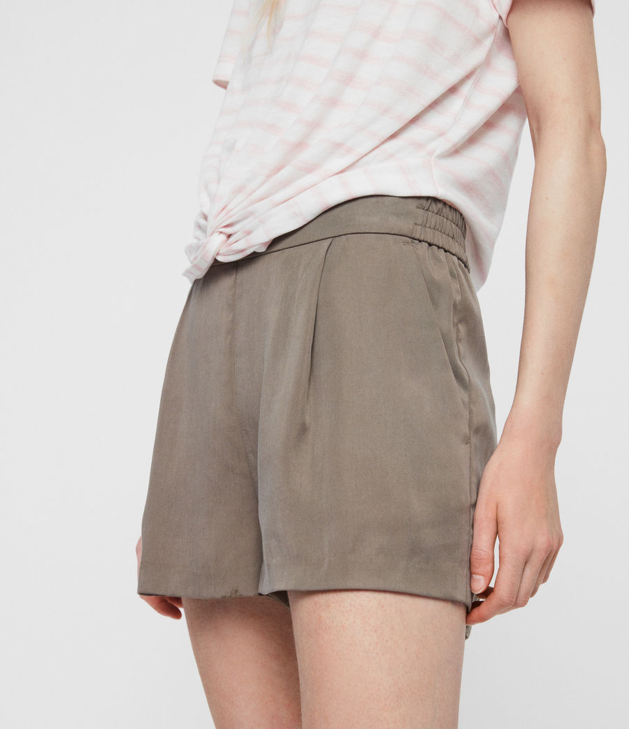 Women's Alva Low-Rise Shorts (khaki) - Image 3