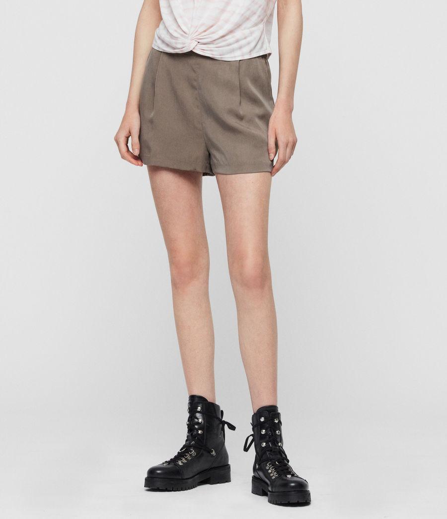 Women's Alva High-Rise Shorts (khaki) - Image 5