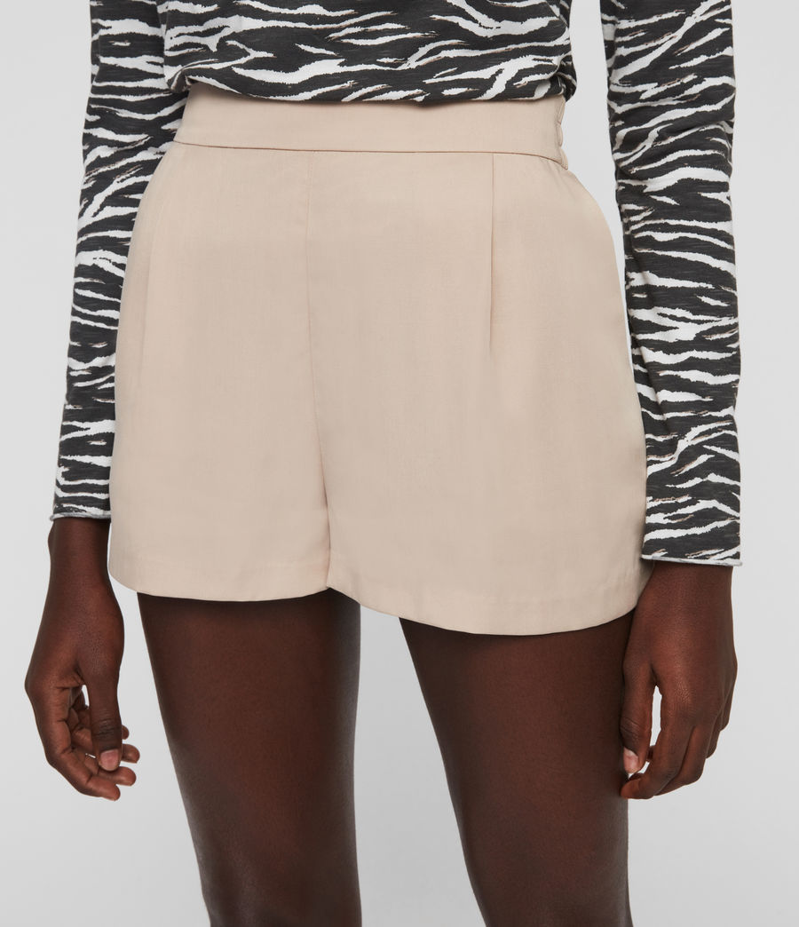 Womens Alva High-Rise Shorts (nude_pink) - Image 3