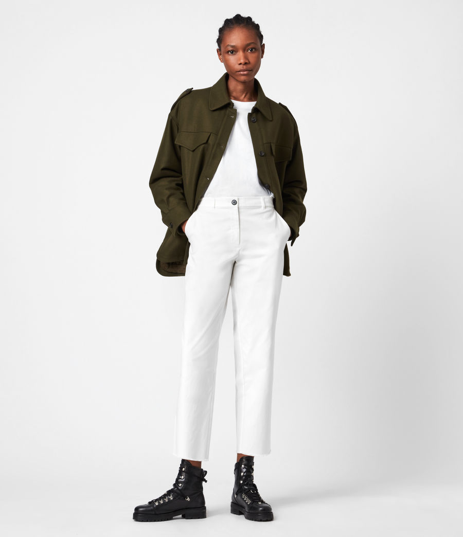 Women's Emi High-Rise Trousers (off_white) - Image 1