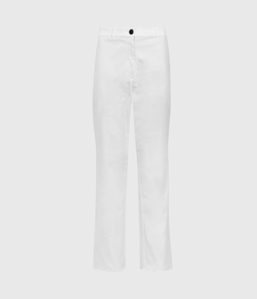 High Rise Straight Leg Trousers