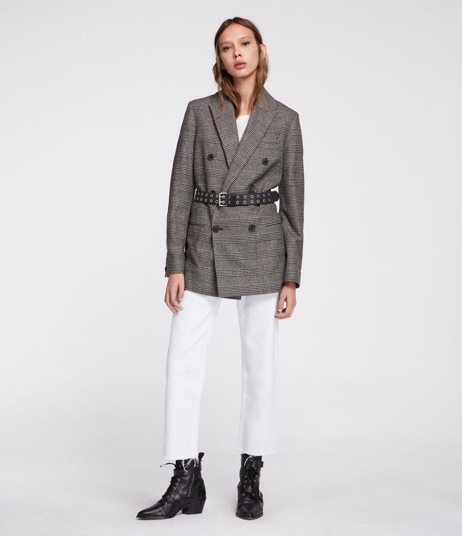 Women's Astrid Check Blazer (black_white) - Image 5