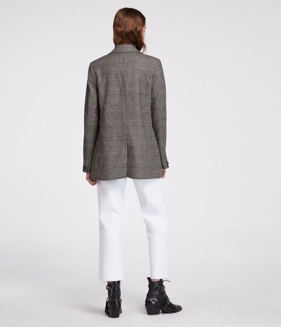 Women's Astrid Check Blazer (black_white) - Image 6