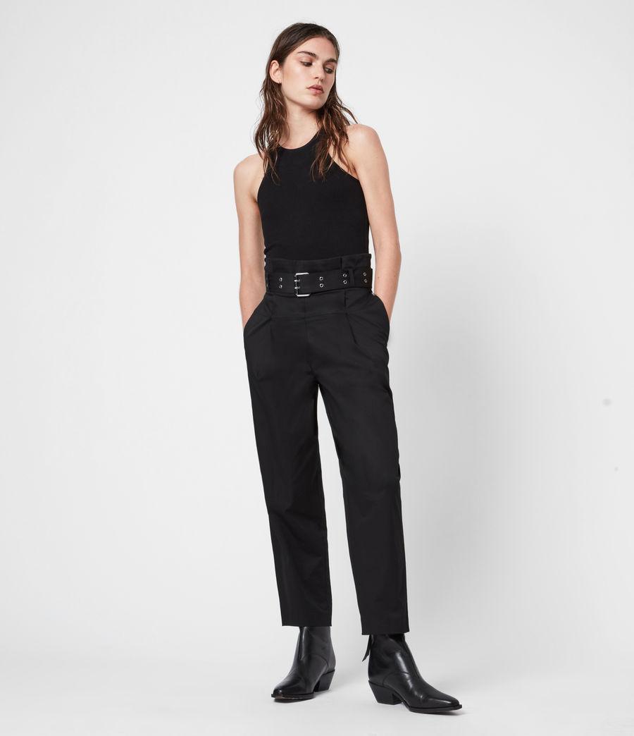 Women's Ali High-Rise Trousers (black) - Image 1