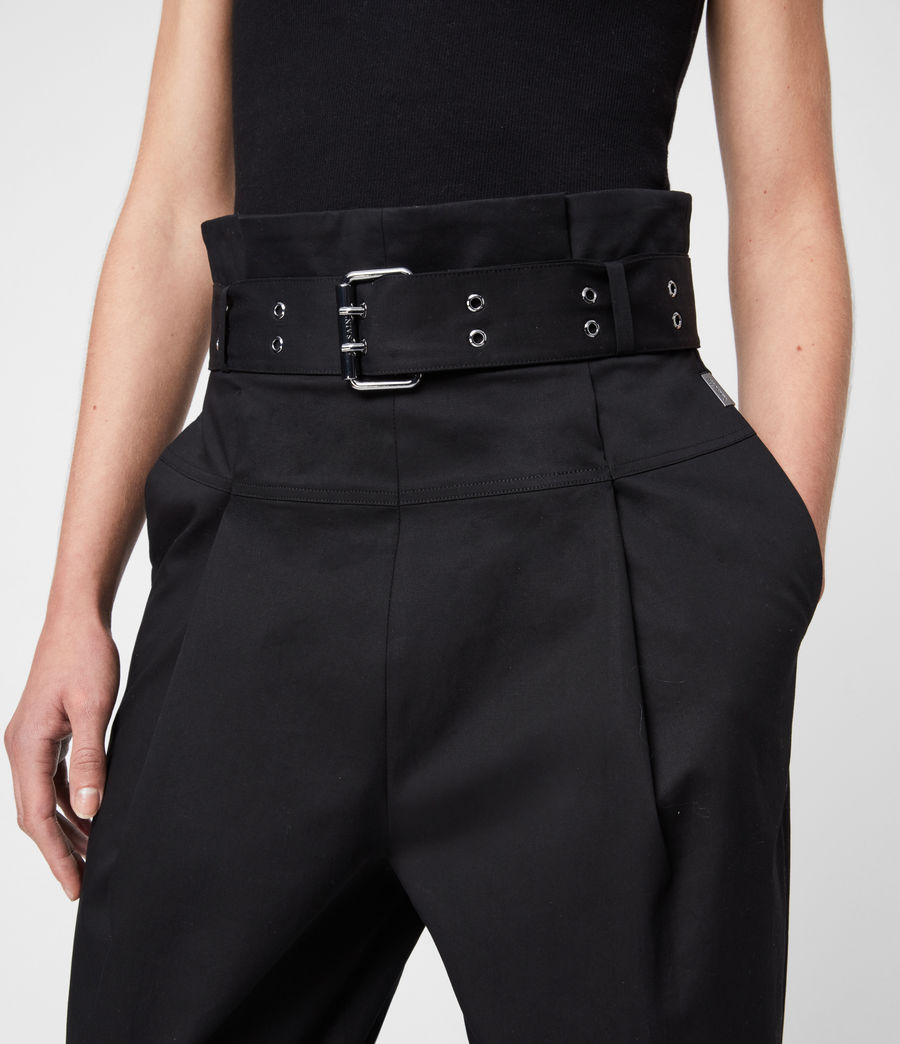 Women's Ali High-Rise Trousers (black) - Image 2