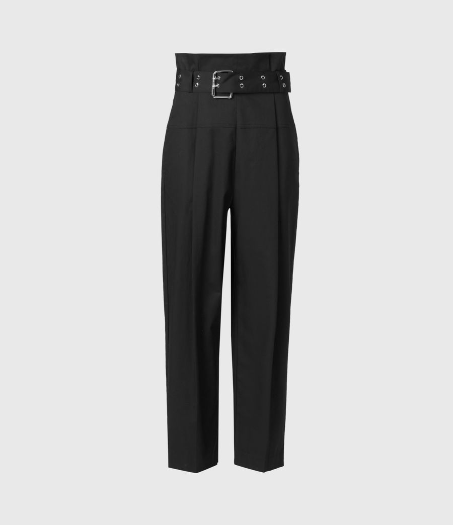 Women's Ali High-Rise Trousers (black) - Image 3