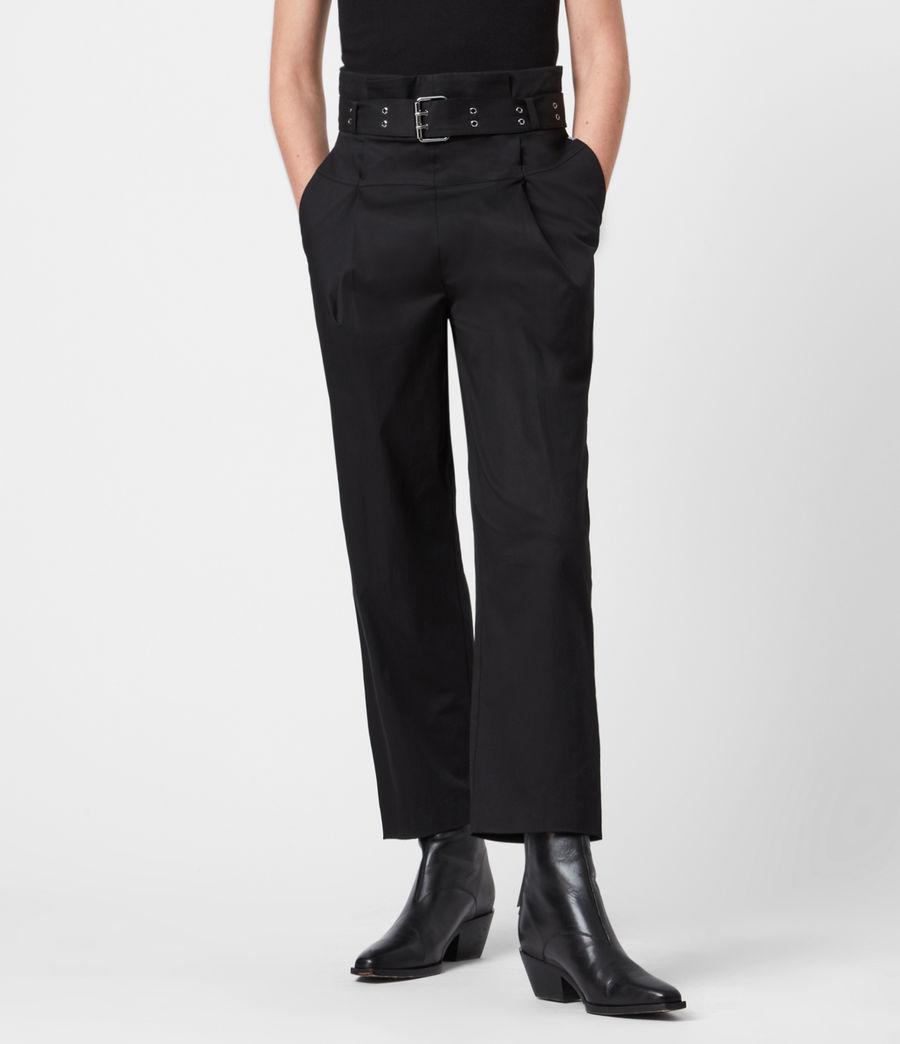Women's Ali High-Rise Trousers (black) - Image 5