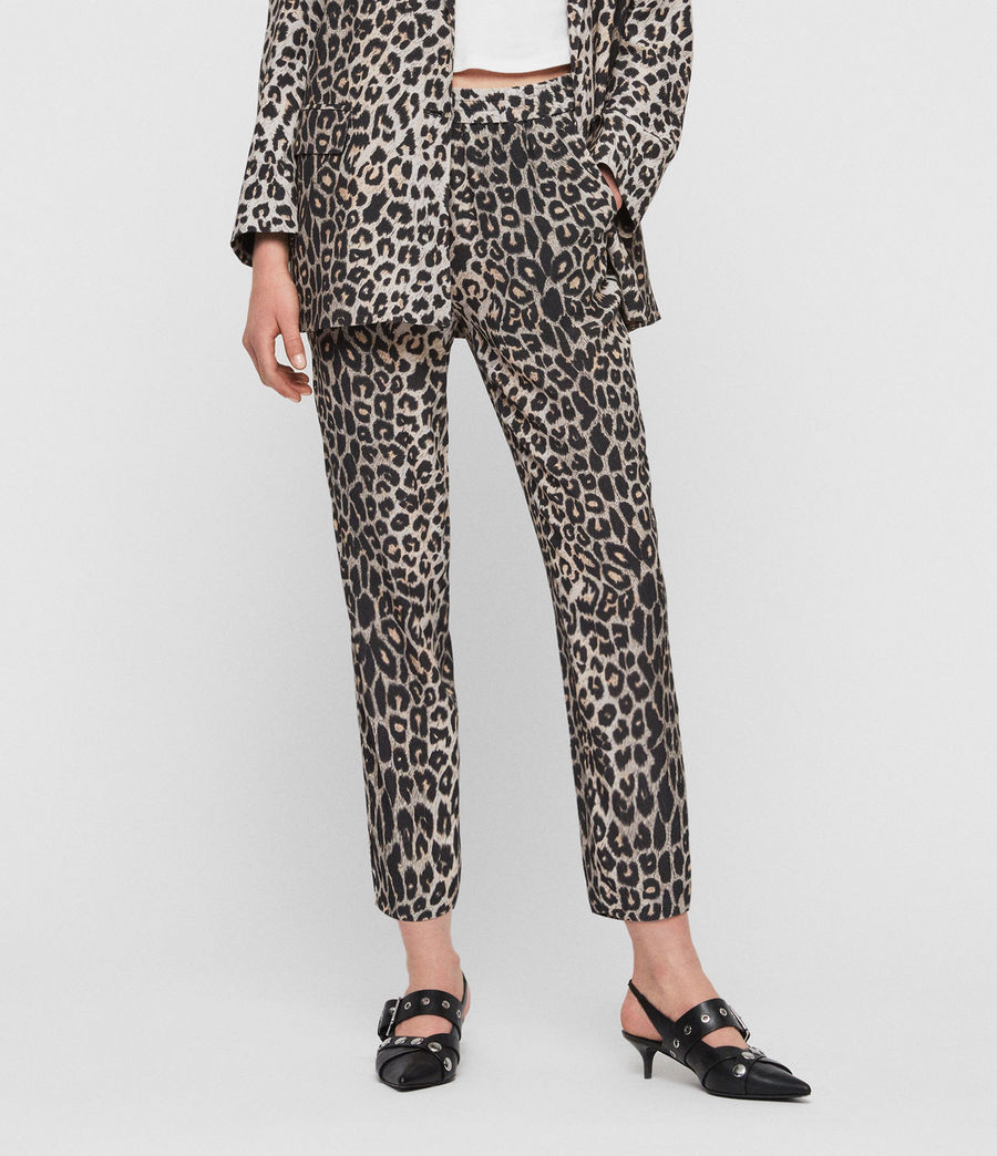 Women's Neve Leppo Trousers (leopard_yellow) - Image 1