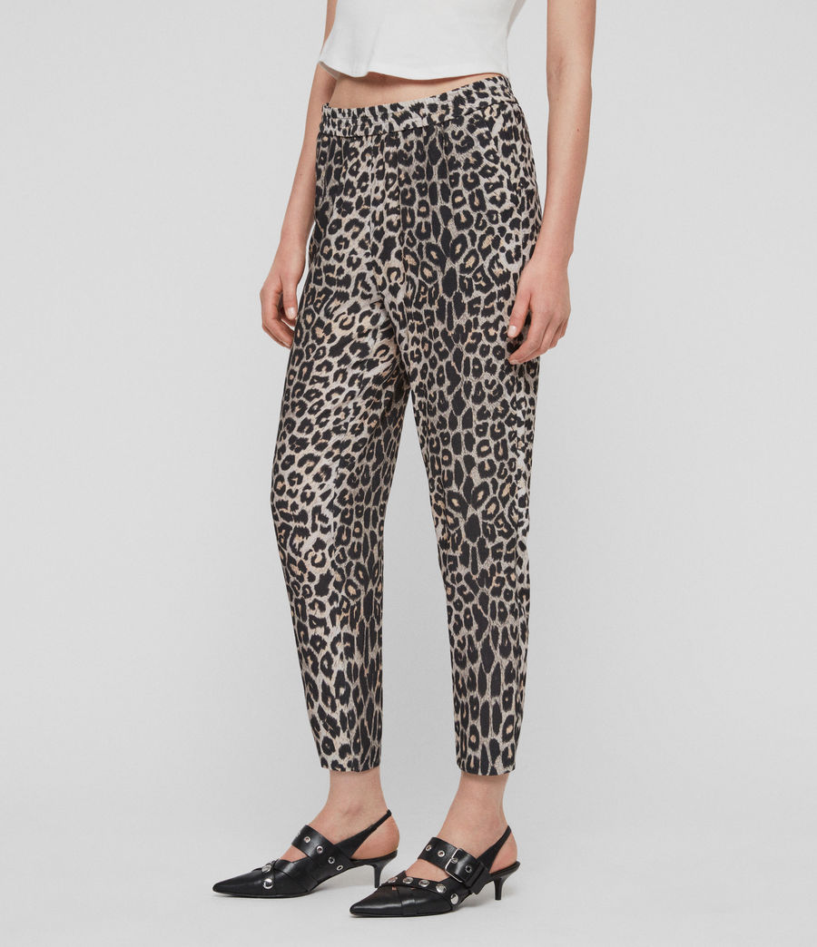 Women's Neve Leppo Trousers (leopard_yellow) - Image 2