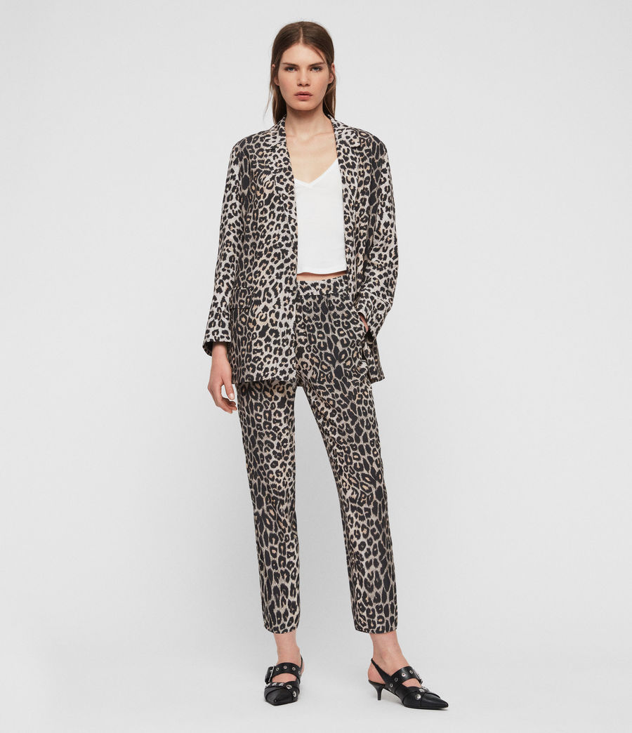 Women's Neve Leppo Trousers (leopard_yellow) - Image 4