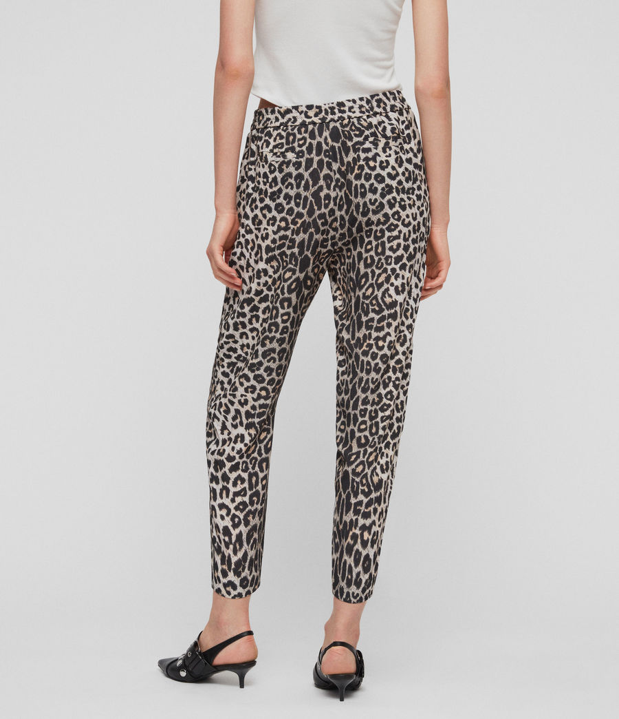 Womens Neve Leppo Tapered Mid-Rise Pants (leopard_yellow) - Image 5