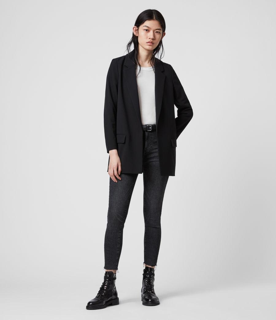 Womens Aleida Tri Blazer (black) - Image 1