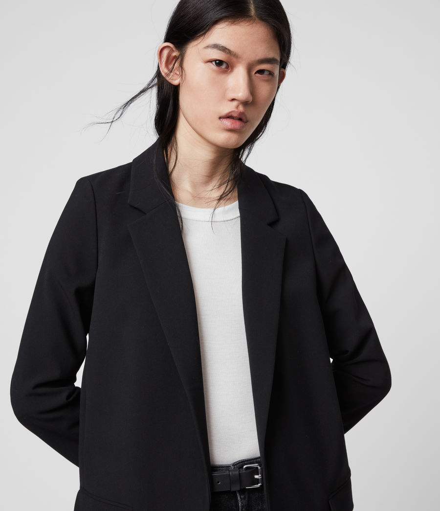 Womens Aleida Tri Blazer (black) - Image 2