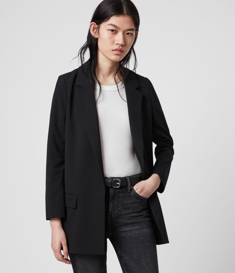 Womens Aleida Tri Blazer (black) - Image 4