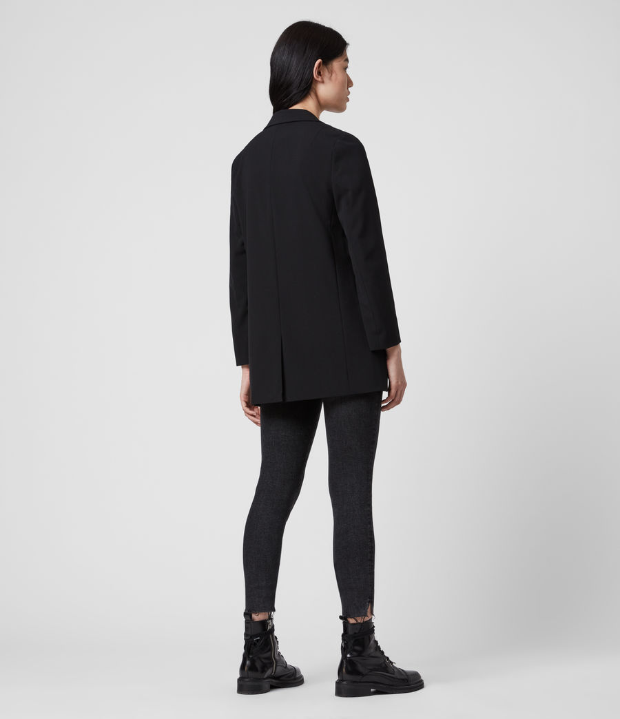 Womens Aleida Tri Blazer (black) - Image 5