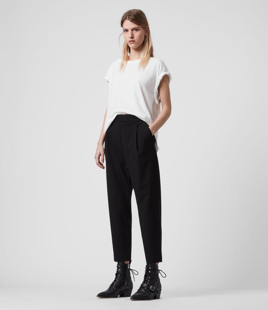Women's Aleida Tri Low-Rise Trousers (black) - Image 1