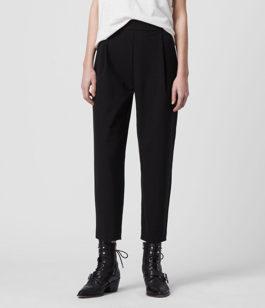 Women's Aleida Tri Low-Rise Trousers (black) - Image 3
