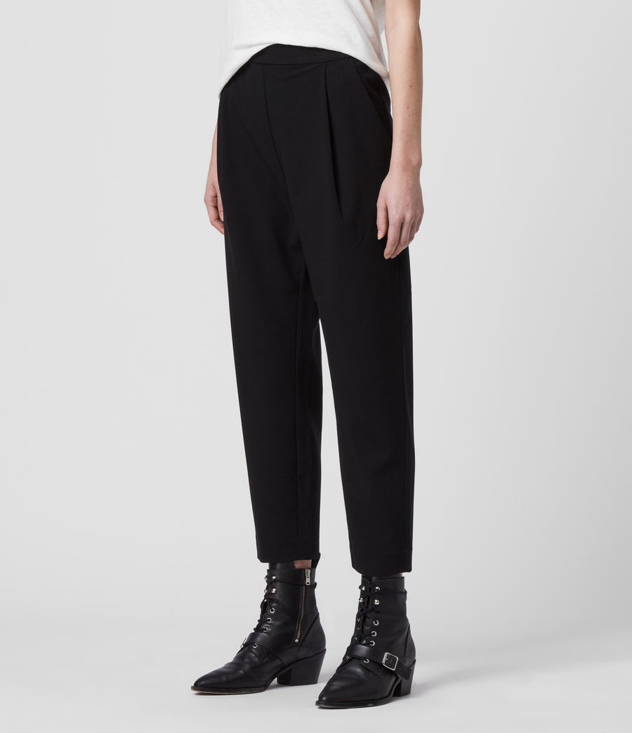 Women's Aleida Tri Low-Rise Trousers (black) - Image 4