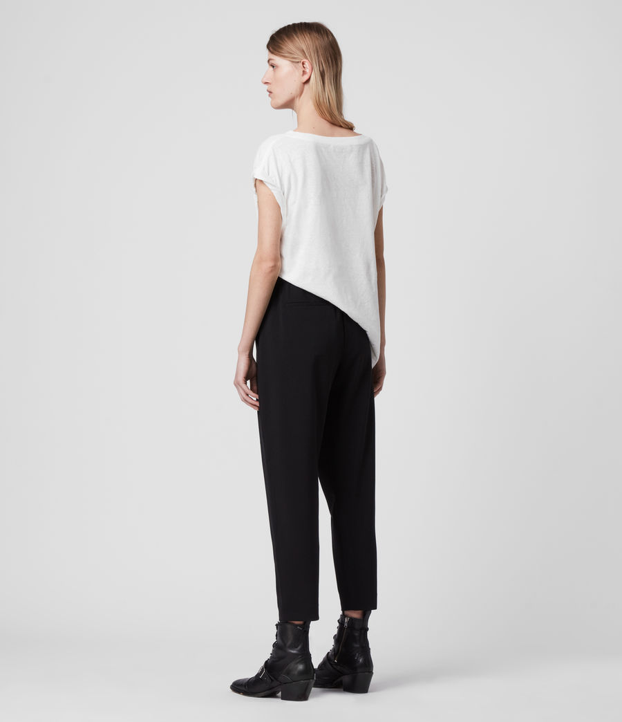 Women's Aleida Tri Low-Rise Trousers (black) - Image 6