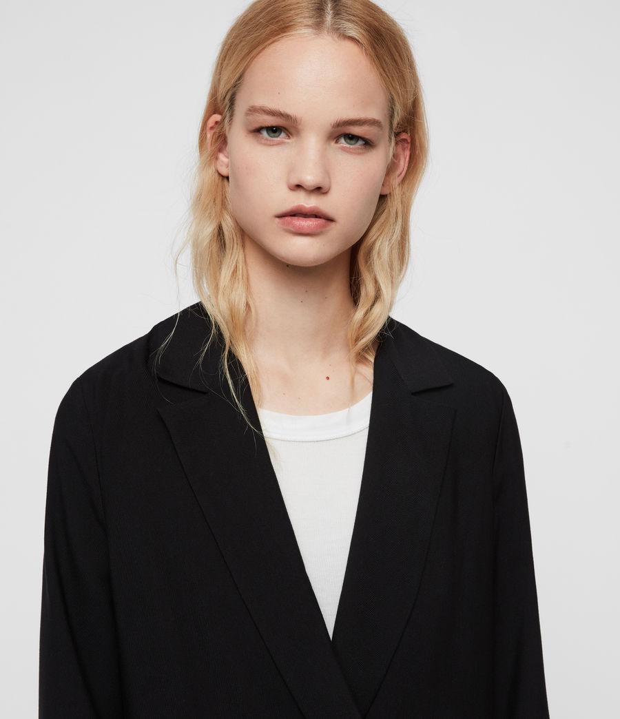 Femmes Blazer Noir Croisé Elora (black) - Image 3