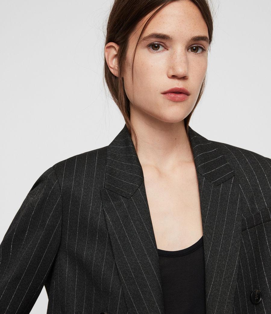 Women's Isla Pinstripe Blazer (charcoal_grey) - Image 2
