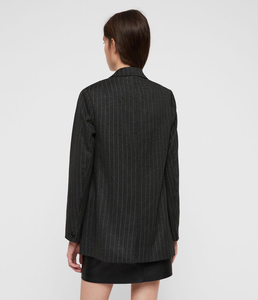 Women's Isla Pinstripe Blazer (charcoal_grey) - Image 5