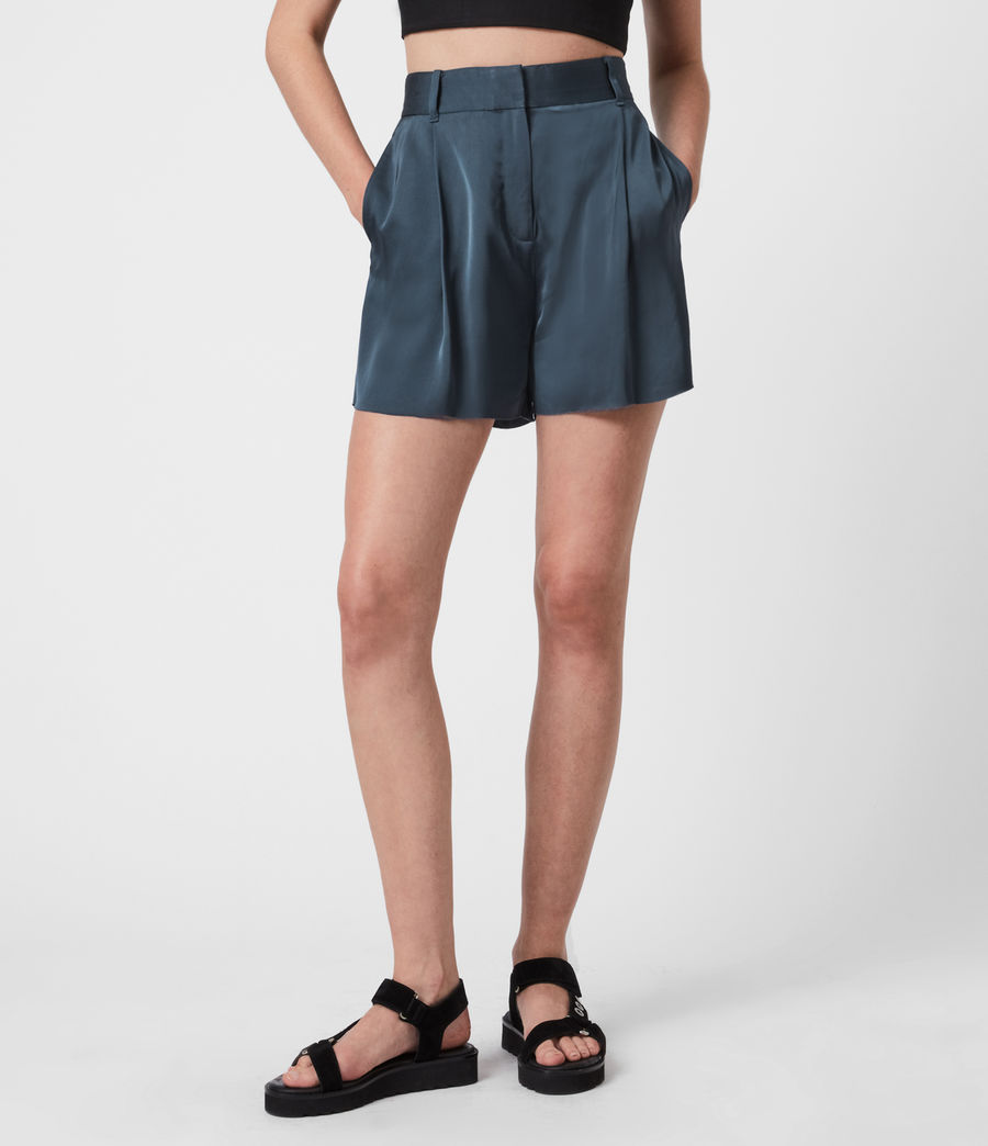 Women's Rafaella High-Rise Shorts (blue) - Image 4