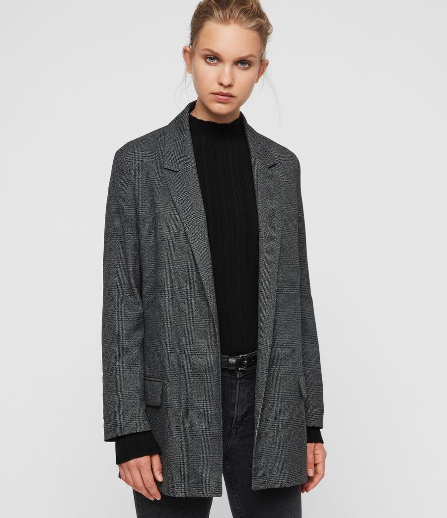 Femmes Blazer Gris à Carreaux Anneka (grey_black) - Image 1
