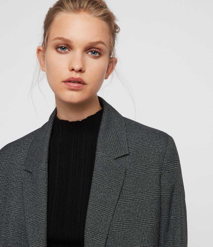 Femmes Blazer Gris à Carreaux Anneka (grey_black) - Image 2